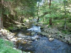 Le ruisseau Trifoulou devant le gîte