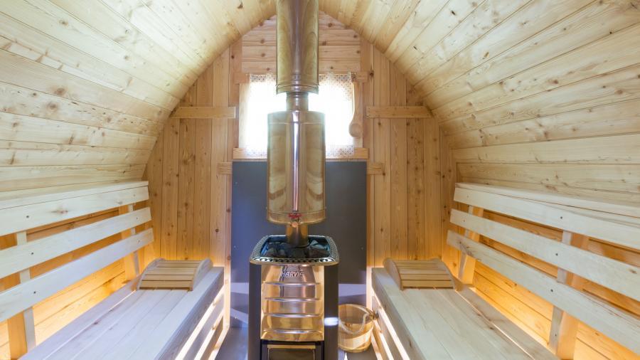 bain nordique et sauna ext rieur chauff au bois. Black Bedroom Furniture Sets. Home Design Ideas